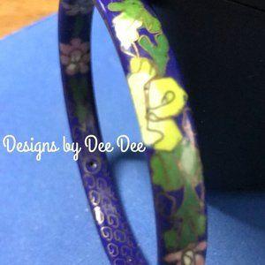 Porcelain Navy Blue Hand Painted Bracelet